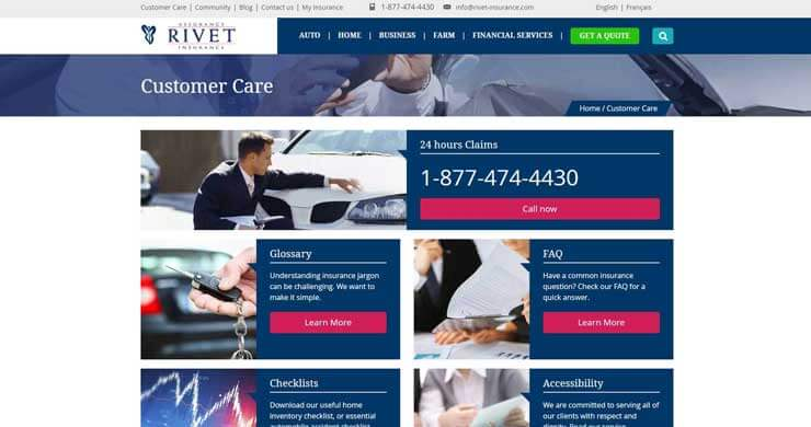 webilize, blog image, best website design tips for financial and insurance firms, rivet